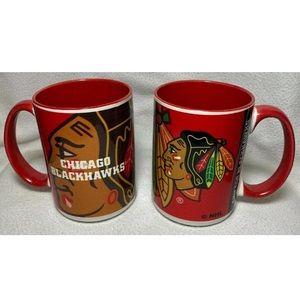 2 Chicago Blackhawks 15 oz Coffee Mugs Cups NHL